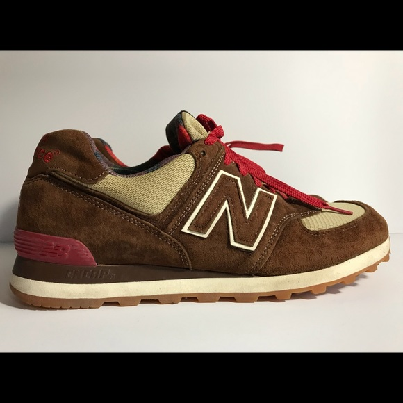 size 40 c8f9d a7048 New balance 574 brown suede size 10.5 pre owned